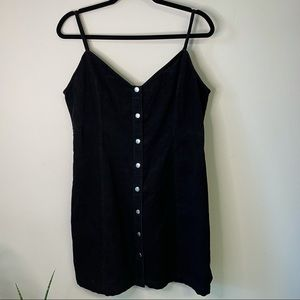 🖤 2/$20 or 3/$25 Newbury Kustom Black Corduroy Button Up Dress